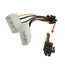 Scheda Connettore Cavo Adattatore Duplice 4 Pin Molex IDE a 6 Pin PCI-E Grafico.