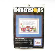 Dimensions Teddy Bear Blessing Counted Cross Stitch Kit #3592 Train Child's Room