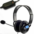 GOOD QUALITY HEADSET HEADPHONE WITH MICROPHONE VOLUME CONTROL PS4 CONTROLLER