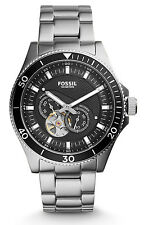 Fossil ME3090 Men's Wakefield Stainless Steel Black Dial Automatic Watch