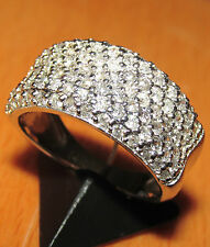 STUNNING SECONDHAND 14CARAT WHITE GOLD   DIAMOND BAND RING SIZE J1/2