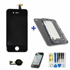 Black Replacement LCD Touch Screen Digitizer Assembly  For iPhone4 +back cover