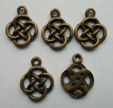 30 pcs bronze plated Chinese knot charm pendant 19.5 x 15 mm