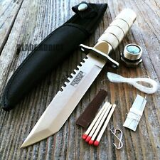 "8.25"" Tactical Fishing Hunting Knife w/ Sheath Survival Kit Bowie Camping Tool"