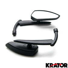 Custom Rear View Mirrors Black Pair w/Adapters For Victory Cross Country