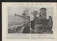 1919 NAVAL DEVICES P Vs AND COFFEE BOXES PARAVANE TO PROTECT AGAINST SEA MINES