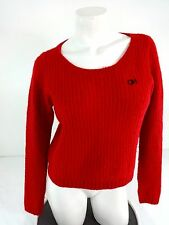 GILLY HICKS FOR A & F WOMENS RED WOOL BLEND SWEATER SIZE M