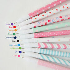 10pcs/lot Cute Gel Pens Colorful Office School Accessories Fashion 0.38mm Pen