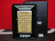 "ZIPPO NEW ""THE LORD IS MY SHEPHERD"" LIGHTER-MINT-SEAL INTACT- WE SHIP FAST!"