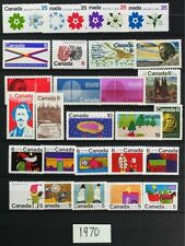 D919M CANADA 1970 Postage Stamps Complete Year Set Mint NH