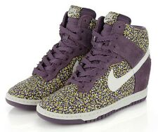 GORGEOUS NIKE Dunk Sky High Liberty of London Purple Suede Pepper Floral US 6.5
