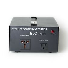 3000 Watt Voltage Converter Transformer Heavy Duty Step Up/Down 3000W 110-220V