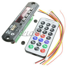 12V MP3 WMA Decoder Board Wireless Car Bluetooth USB TF FM Radio Audio Remote