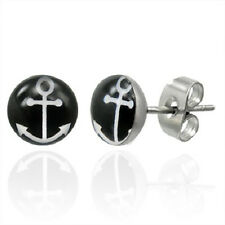 Stainless Steel Anchor Ship Boat Stud Earring      b50