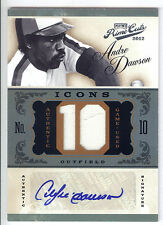 """2012 Prime Cuts Icons Jersey Number #1 Andre Dawson """"10"""" Jersey Autograph #10/10"""