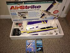 "Vintage Mint R/C Air Strike Airplane,3 Channel,34"",Megatech,Electric Engine"