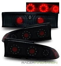 For 95-99 Mitsubishi Eclipse 3 Piece Black LED Tail Lights Rear Brake Lamps