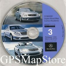 2002 2003 2004 Mercedes Benz SL600 SL500 SL55 AMG Navigation CD #3 North Central