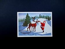 Disney Artist Ralph Hulett Christmas Greeting Card Santa with A Treat For Dasher