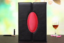 Black Color 2-Door Soft Leather Smart Case Cover Stand for Apple iPad Air 2
