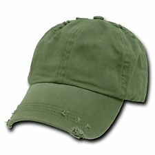 Olive Green Vintage Distressed Weathered Polo Baseball Cap Caps Dad Hat Hats New