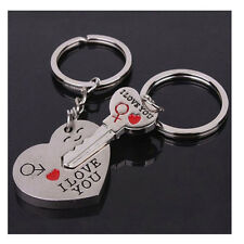 "Chain Lovers Couples Keyring Metal Heart+Arrow I LOVE YOU ""Key To My Heart"""