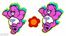 """1.5"""" CARE BEARS FRIEND BEAR  CHARACTER FABRIC APPLIQUE IRON ON  SET IRON ON"""