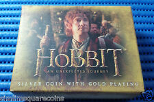 "2012 New Zealand 1oz Silver Proof G/P Coin ""The Hobbit: An Unexpected Journey"""