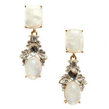 ANTHROPOLOGIE BEAUTIFUL OPAL WHITE DROP EARRINGS - NEW