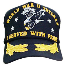 World War II Veteran Cap With Scrambled Eggs I Served With Pride