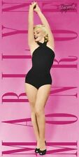 "MARILYN MONROE Hollywood Star and Legend PINK SWIMSUIT BEACH TOWEL 30"" x 60"" New"