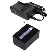 BATTERY+CHARGER FOR Sony NP-FH30 FH90 106E DCR-DVD108 NP-FH40 DCR-SR37 DCR-SR37E