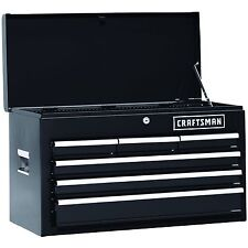 Craftsman 26 In. 6-Drawer Heavy-Duty Ball Bearing Top Chest Tool Storage -Black
