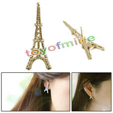 Eiffel tower tutto-fiammifero martello dell'orecchio orecchini colore dell'oro