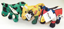 NWT 3 Cow Parade Bean Bag Plush Lot Mooma Green Clover Yellow More Than Meat