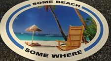 New  Paradise Jimmy Buffet Band Euro Sticker Decal Some Beach Some Where