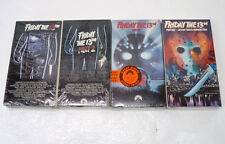 Friday the 13th Part 1 2 6 & 8 - SEALED New VHS Movies Lot Horror Classic OOP