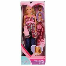 New Steffi Love Welcome Baby Pregnant Doll + 13 Accessories Pregnant Barbie Doll