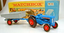 Kingsize k-11a Fordson tractor & tráiler rara Orange llantas top en Box