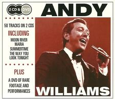ANDY WILLIAMS 2 CD'S & DVD - INCLUDING MOON RIVER, MARIA, SUMMERTIME & MORE