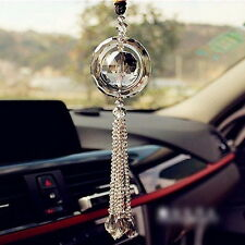Gold Auto Car Rear View Mirror Pendant Crystal Hanging Ornament Interior Decor D