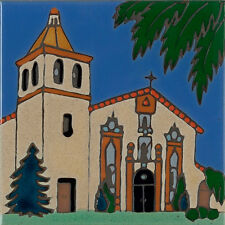 Handpainted Ceramic Tile Mission Santa Clara/painting/backsplash/installation