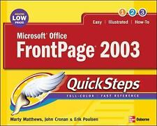 Microsoft Office FrontPage 2003 QuickSteps (Quicksteps)