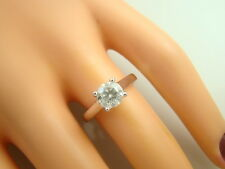 1.10 ct solitaire real diamond wedding engagement ring 18k white gold ring