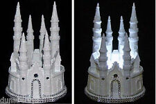 Glittered & Gemmed Cinderella Fairytale Castle/Wedding Cake Topper/Night Light