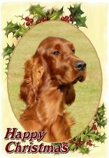 Irish Setter Dog A6 Christmas Card Design XIRSET-7 by paws2print