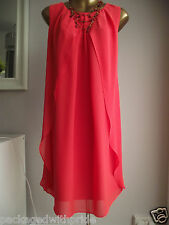 MONSOON RED ORINI WEDDING CRUISE WINTER SUN COCKTAIL FESTIVE XMAS PARTY DRESS 14