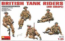 1:35 MiniArt 35118 - British Tank Riders, NW Europe  5 Figure  Model Kit