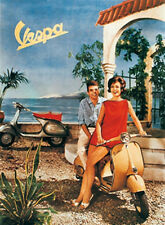 Vespa Tin Sign 8x11 cm Sheet map Sign PC-201/087