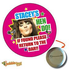 75mm HEN PARTY DO WEEKEND NOVELTY BADGE - BIG PERSONALISED BADGES, PHOTO, 629
